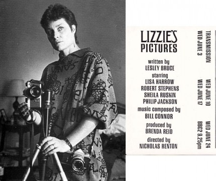 Transmission Card for the 1987 4 part drama Lizzie's Pictures