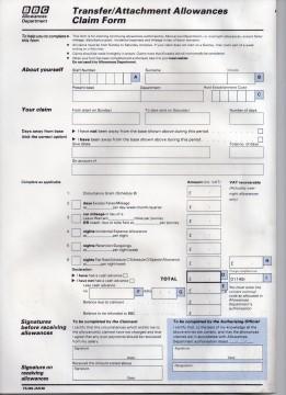 TandD claim form GH